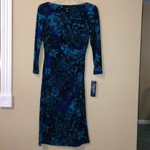 Turquoise Chaps dress, size small